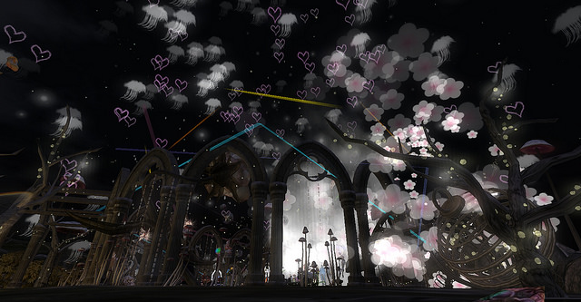 Particle light and sound show at SL Fantasy Faire 2015