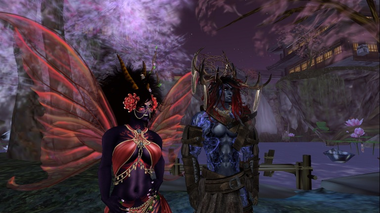 Prettyflower and Redd Wolf  showing off their new skins and stuff :D