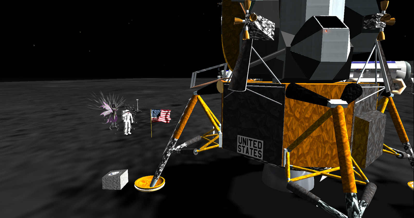 Lunar Landing, Second Life