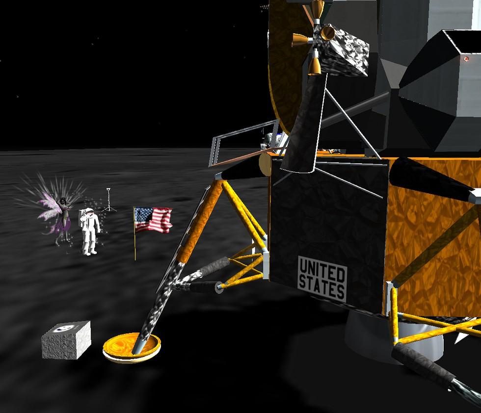 Lunar Landing, Second Life
