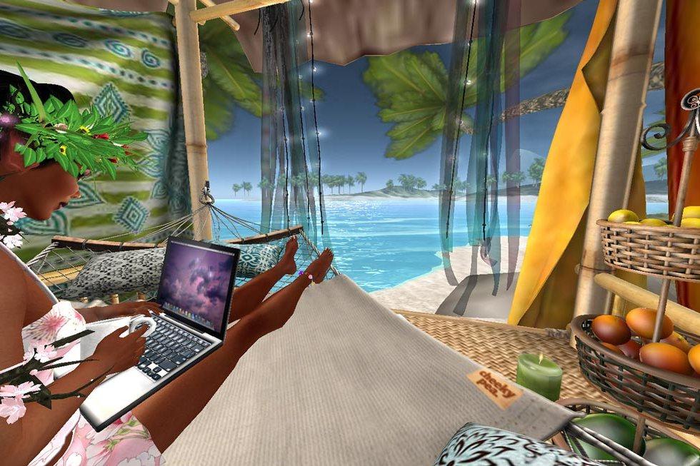 Blogging on Laptop at Del Mar Dream