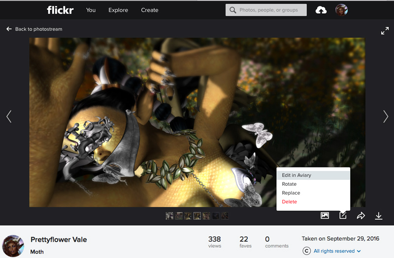 Where to find Aviary tools in Flickr